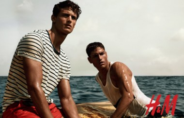 H&M season of sun collection for men 2012