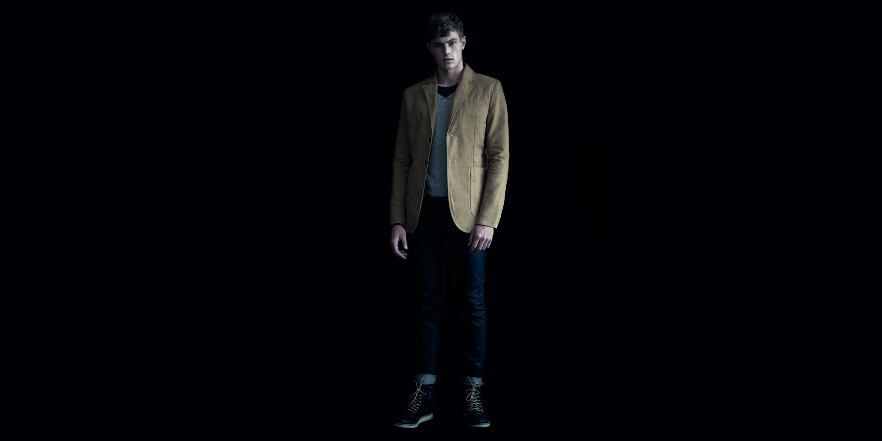 Pull & Bear Dark Fall lookbook for men 2012