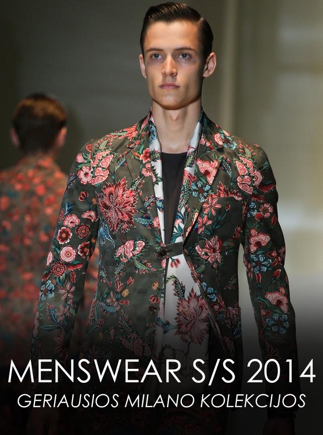 Milano vyrų mados savaitė S/S 2014 | Geriausios kolekcijos