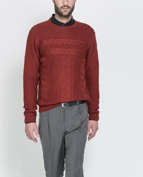 ZARA warm men sweaters 2013 for winter